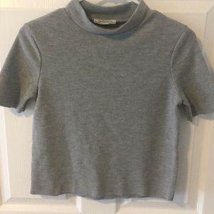 Zara TRF short sleeve sweater